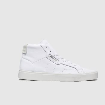 adidas White Sleek Mid Womens Trainers#