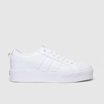 adidas White Adi Nizza Platform Womens Trainers