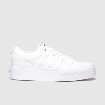 adidas White Nizza Platform Womens Trainers#