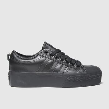 adidas Black Nizza Platform Womens Trainers#