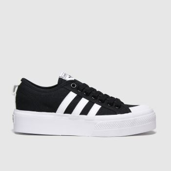 Adidas Black & White Nizza Platform c2namevalue::Womens Trainers