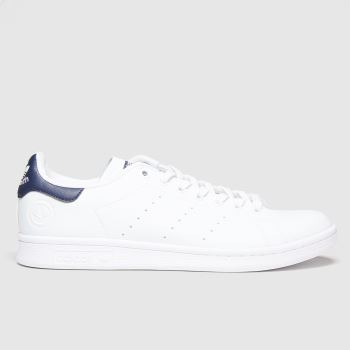 adidas White & Navy Stan Smith Vegan Womens Trainers
