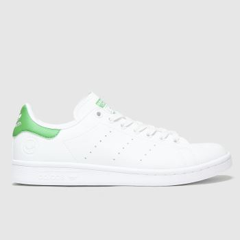 adidas White & Green Stan Smith Vegan Womens Trainers
