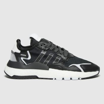 adidas Black & White Nite Jogger Womens Trainers#