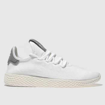 Adidas White & grey Pharrell Williams Tennis Hu Womens Trainers