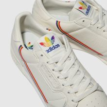 adidas white continental 80 pride trainers