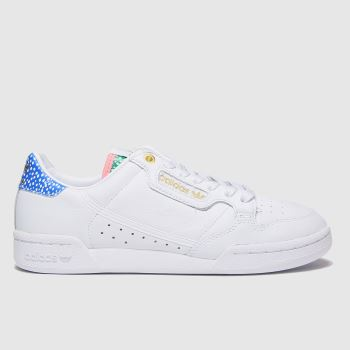 adidas White & Blue Continental 80 Womens Trainers
