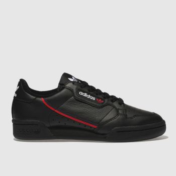 Adidas Black & Red Continental 80 Womens Trainers