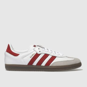 Adidas White & Red Samba Og Womens Trainers