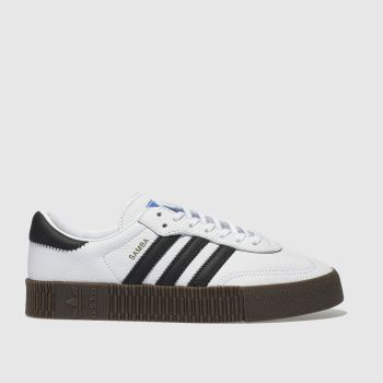 adidas White & Black Sambarose Womens Trainers#