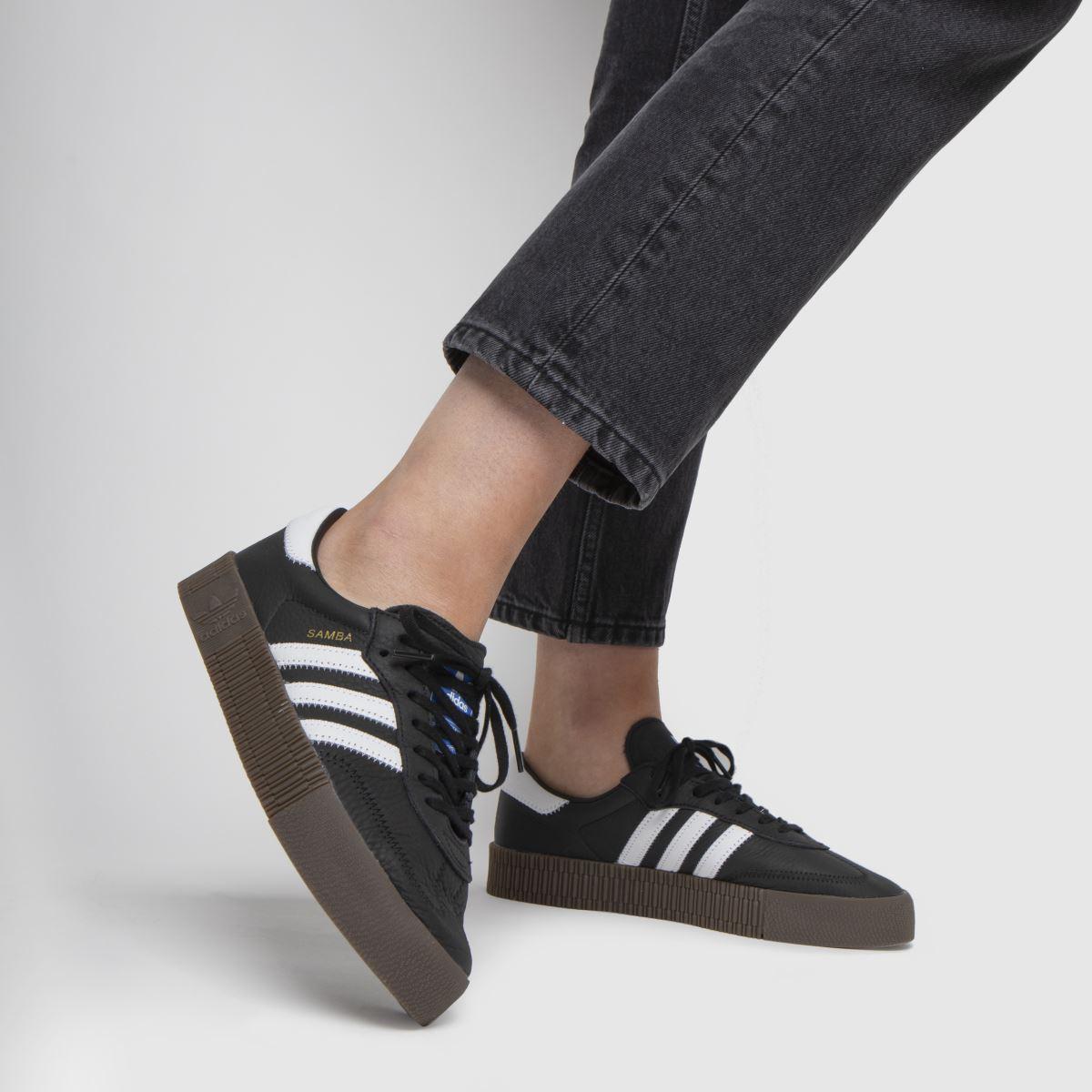 Damen Schwarz-weiß adidas Sambarose Sneaker | schuh Gute Qualität beliebte Schuhe