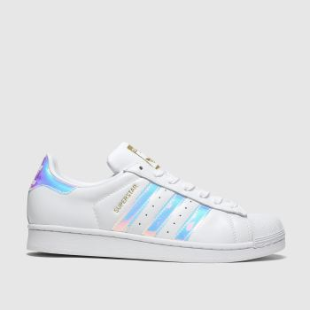 Adidas White & Silver Superstar c2namevalue::Womens Trainers