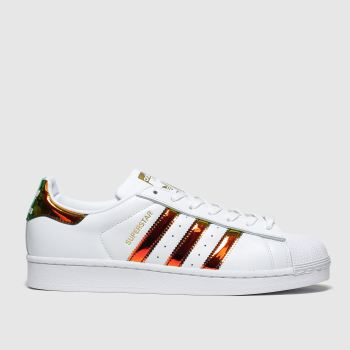 Adidas White & Gold Superstar c2namevalue::Womens Trainers