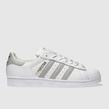 Adidas White & grey Superstar Womens Trainers