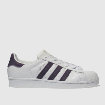 Adidas White & Purple Superstar Womens Trainers