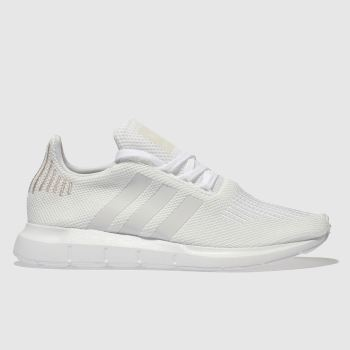 Adidas White & Gold Swift Run Womens Trainers