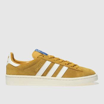 Adidas Yellow Campus Suede Womens Trainers