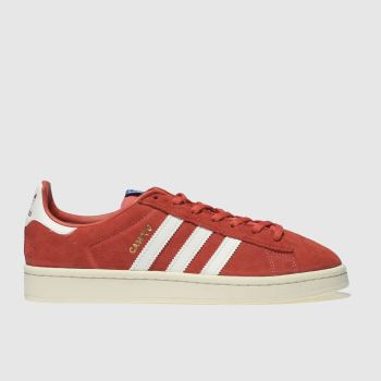 ADIDAS RED CAMPUS SUEDE TRAINERS
