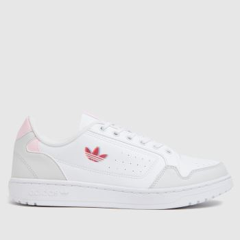 Adidas White & Pink Deerupt Womens Trainers