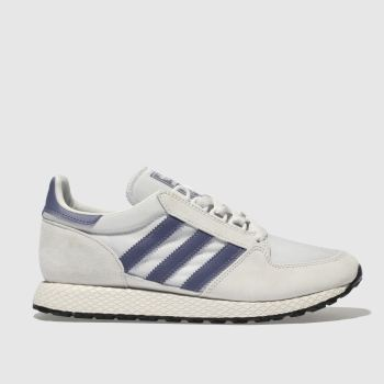 Adidas Light Grey & Lilac Forest Grove Womens Trainers