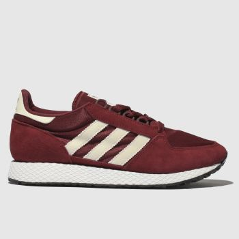 Adidas Burgundy Forest Grove Womens Trainers