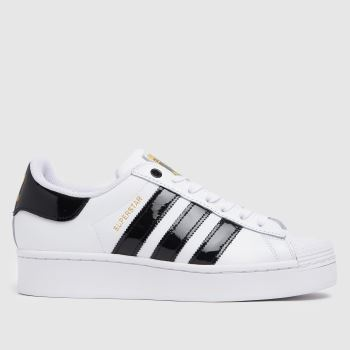 adidas White & Black Superstar Bold Womens Trainers