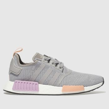 07e7f7237c3fbc Adidas Light Grey Nmd R1 Womens Trainers