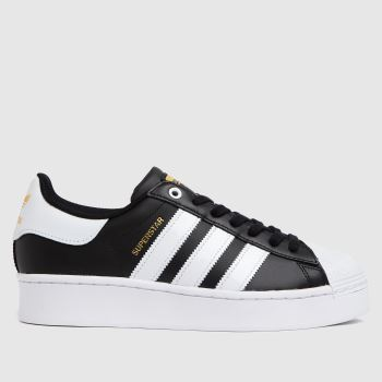 adidas Black & White Superstar Bold Womens Trainers