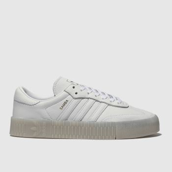 Adidas White Sambarose Womens Trainers
