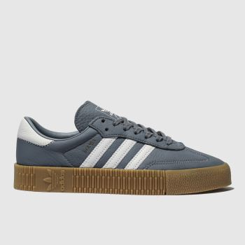 Adidas Navy & White Sambarose Womens Trainers
