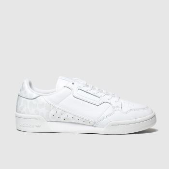 Adidas White Continental 80 Womens Trainers
