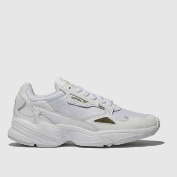 Adidas White & Gold Falcon Womens Trainers