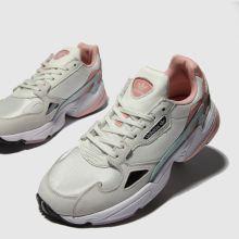 Damen adidas Weiß-pink Falcon Sneaker