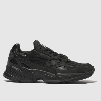 adidas black falcon trainers