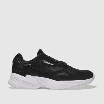 Adidas Black & White Falcon Womens Trainers