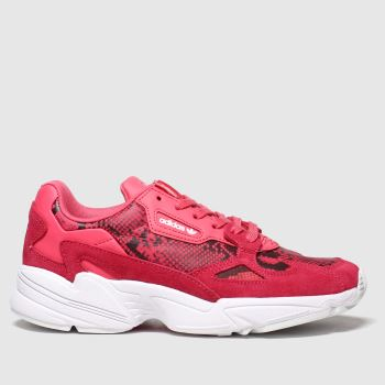 Adidas Pink & Black Falcon c2namevalue::Womens Trainers
