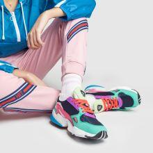 Damen adidas Marineblau türkis Falcon Sneaker