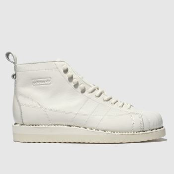 Adidas White Superstar Boot Womens Trainers