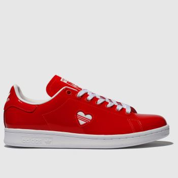 Adidas Red Stan Smith Womens Trainers
