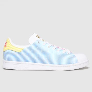 adidas Pale Blue Stan Smith Pride Womens Trainers#
