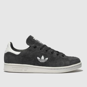 Adidas Dark Grey Stan Smith Suede Womens Trainers