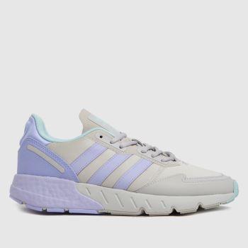 adidas Light Grey Zx 1k Boost Womens Trainers