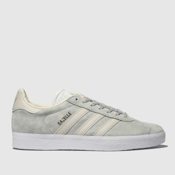 new arrival 08eff e2c71 Adidas Light Grey Gazelle Womens Trainers