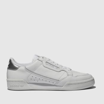 Adidas White & Silver Continental 80 Womens Trainers