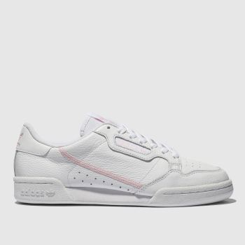 Adidas White & Pink Continental 80 Womens Trainers
