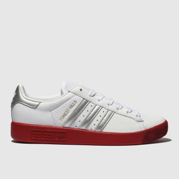 Adidas White & Red Forest Hills Womens Trainers