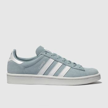 Adidas Pale Blue Campus Suede Womens Trainers