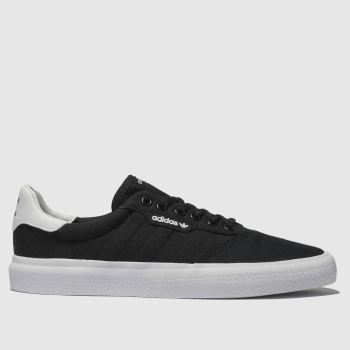 adidas skateboarding black & white 3mc trainers