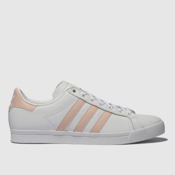 Adidas White & Pink Coast Star Womens Trainers