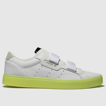 Adidas White & Yellow Sleek S Womens Trainers